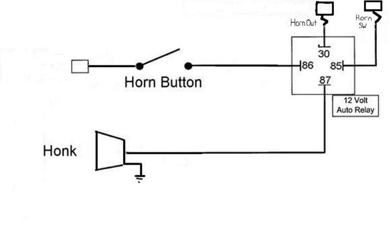 Atv Horn Wiring - Free Wiring Diagram For You • - Air Horns Wiring Diagram