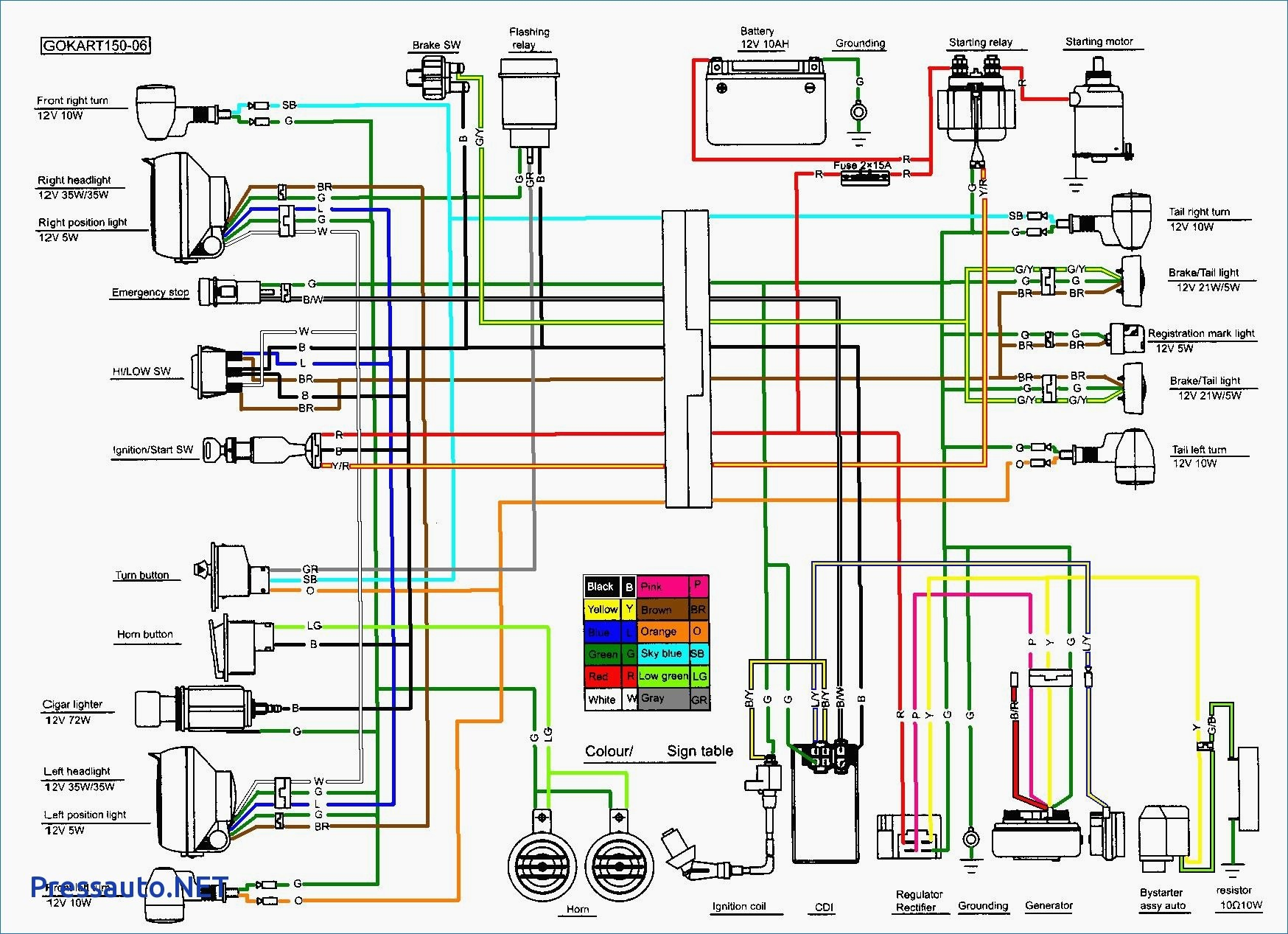 Atv Wiring Harness Diagram - Go Wiring Diagram - Chinese Quad Wiring Diagram