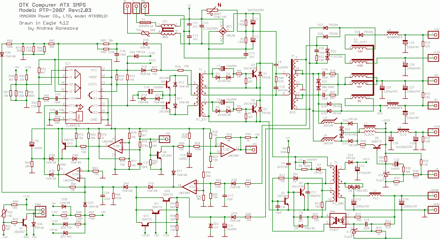 Atx Power Wiring Diagram | Wiring Diagram - Bestec Atx-250-12Z Wiring Diagram