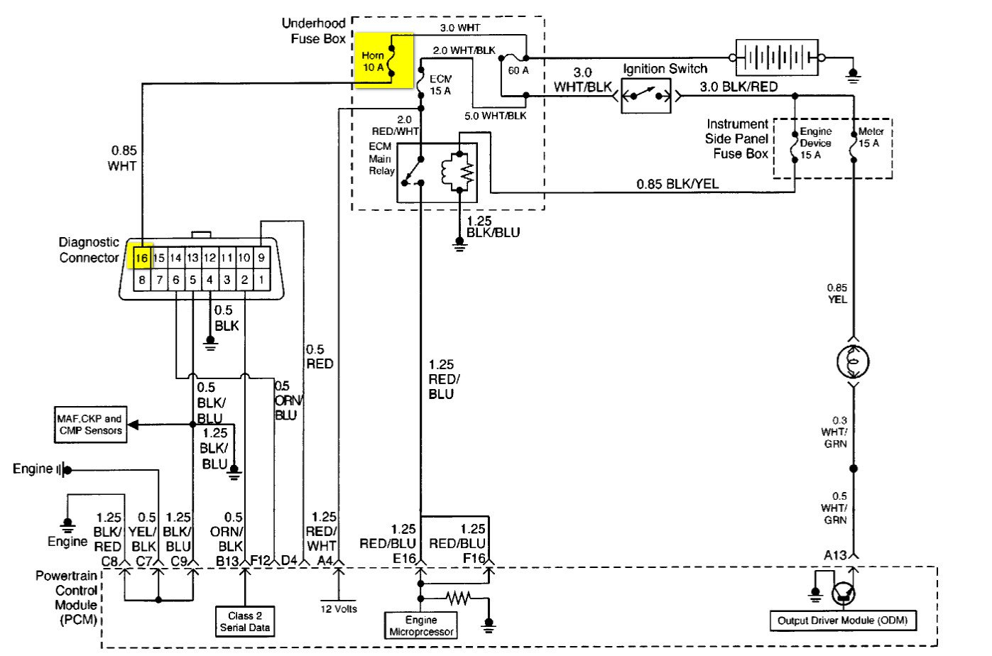 as well 1994 dodge ram obd connector on nissan obd2 connector Obd1 Wiring Diagram
