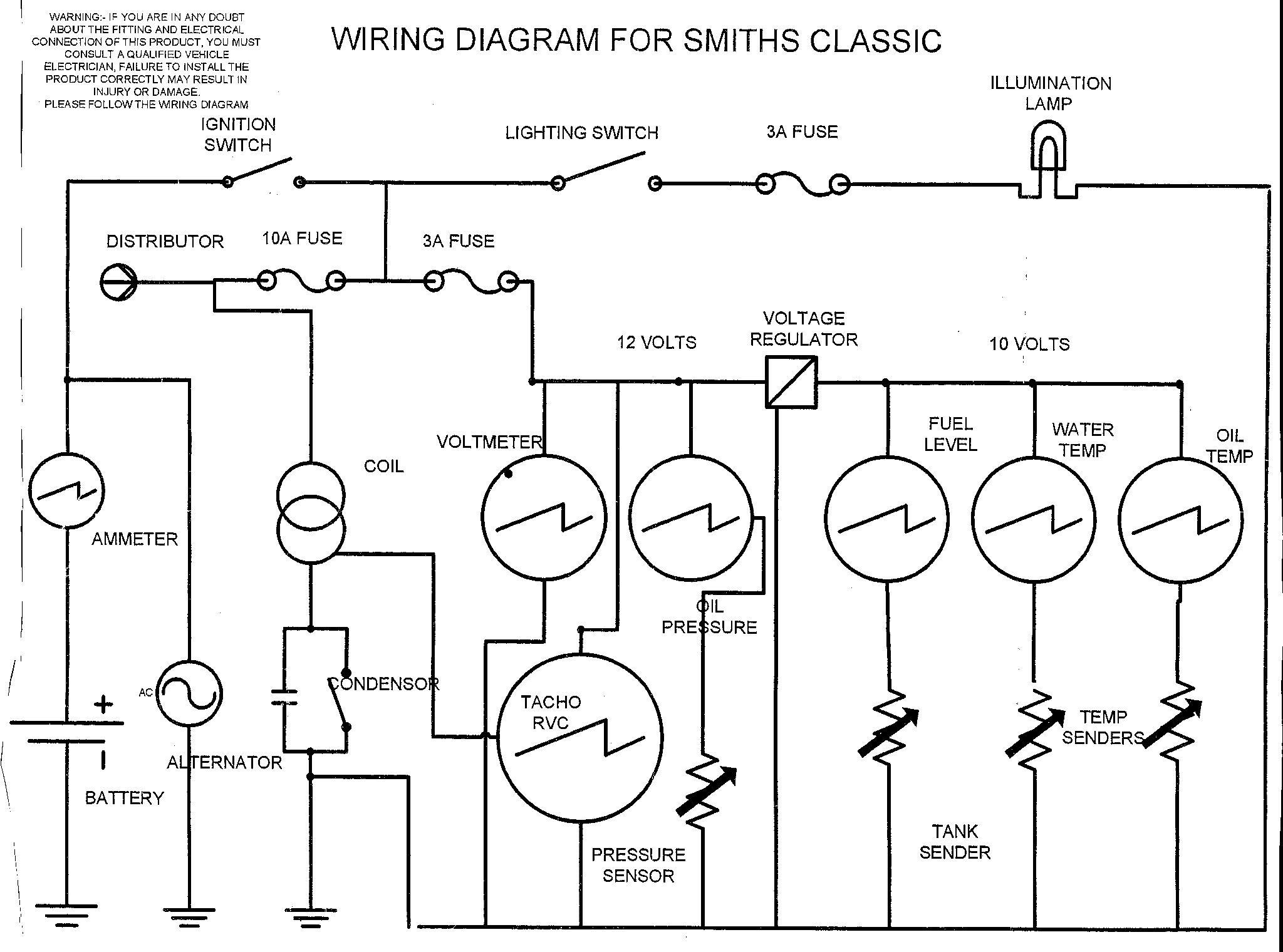 Auto Meter Speedo Wiring Diagram   Wiring Library - Universal Fuel Gauge Wiring Diagram