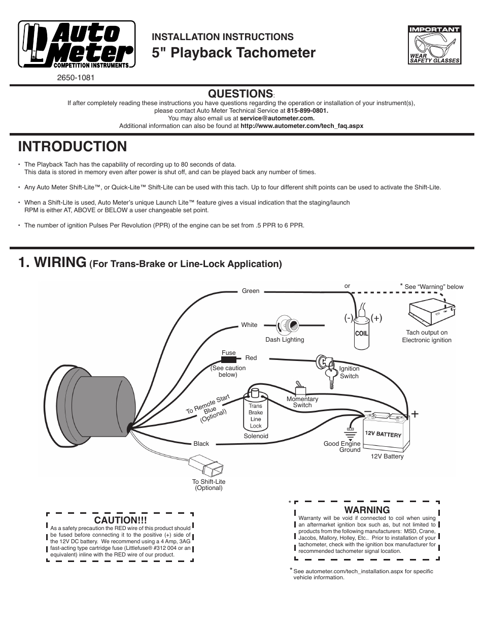 Auto Meter Sport Comp Tach Wiring Diagram | Wiring Diagram - Autometer Tach Wiring Diagram