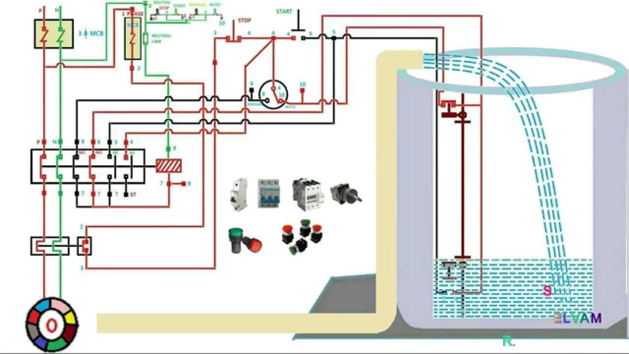 Automatic Water Level Controler Single Phase Motor Starter Best Of - Submersible Well Pump Wiring Diagram