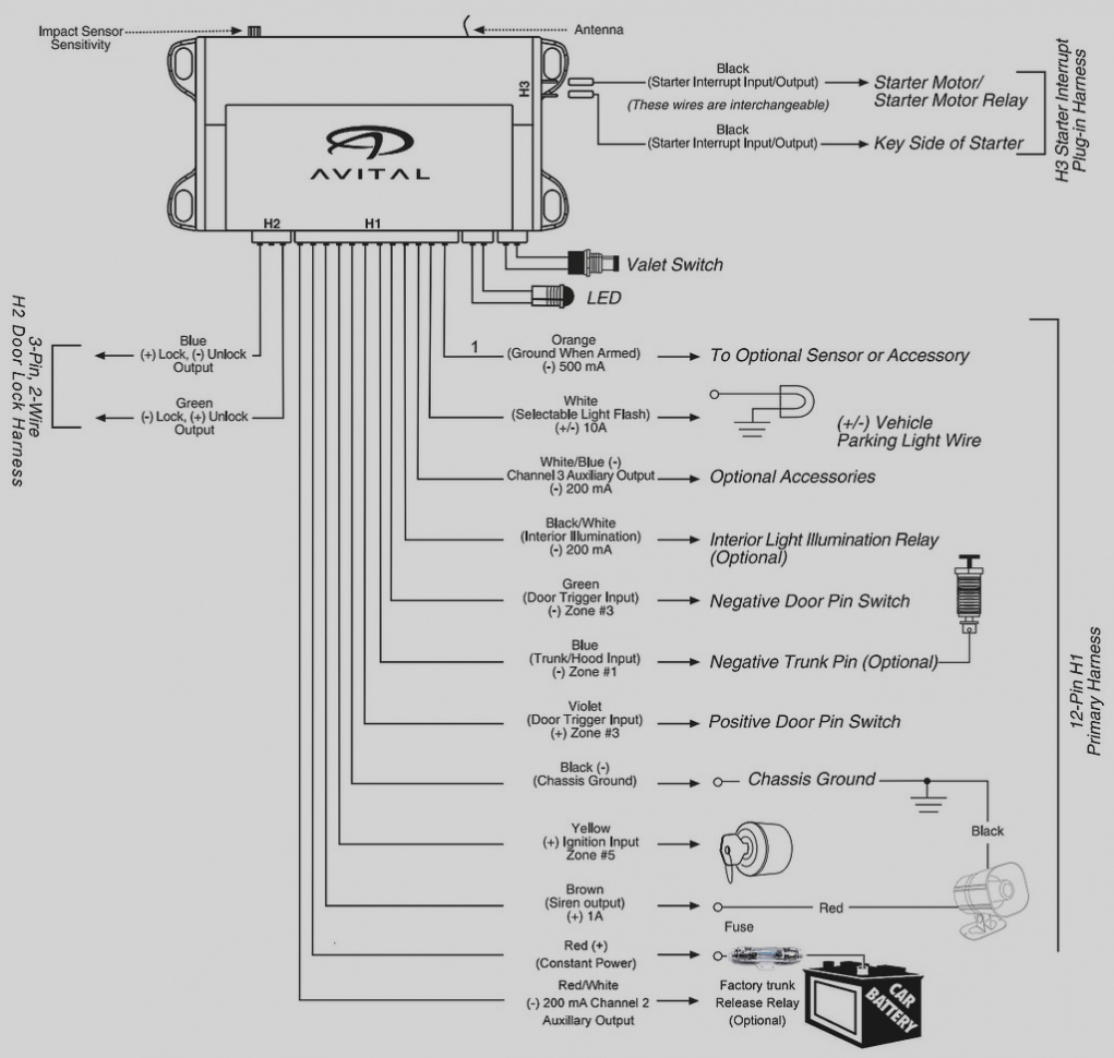 Avital 3100L Wiring Diagram - Today Wiring Diagram - Car Alarm Wiring Diagram