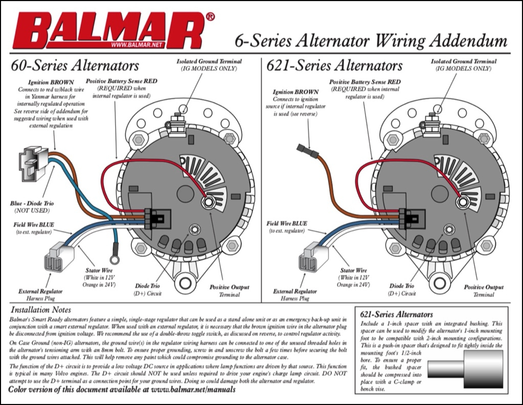 Balmar Alternator Wiring Diagram - Schematics Wiring Diagram - 2 Wire Alternator Wiring Diagram