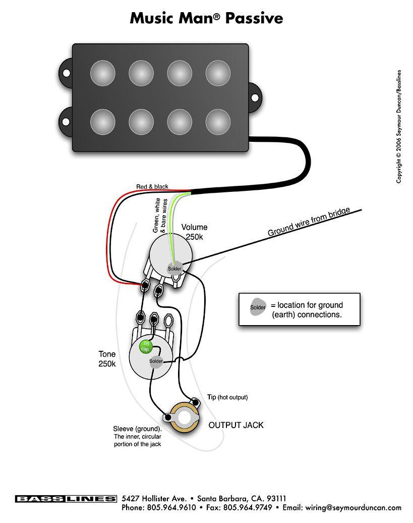 Bass Wiring Diagram Musicman | Bass | Pinterest | Bass, Guitar And - Bass Wiring Diagram