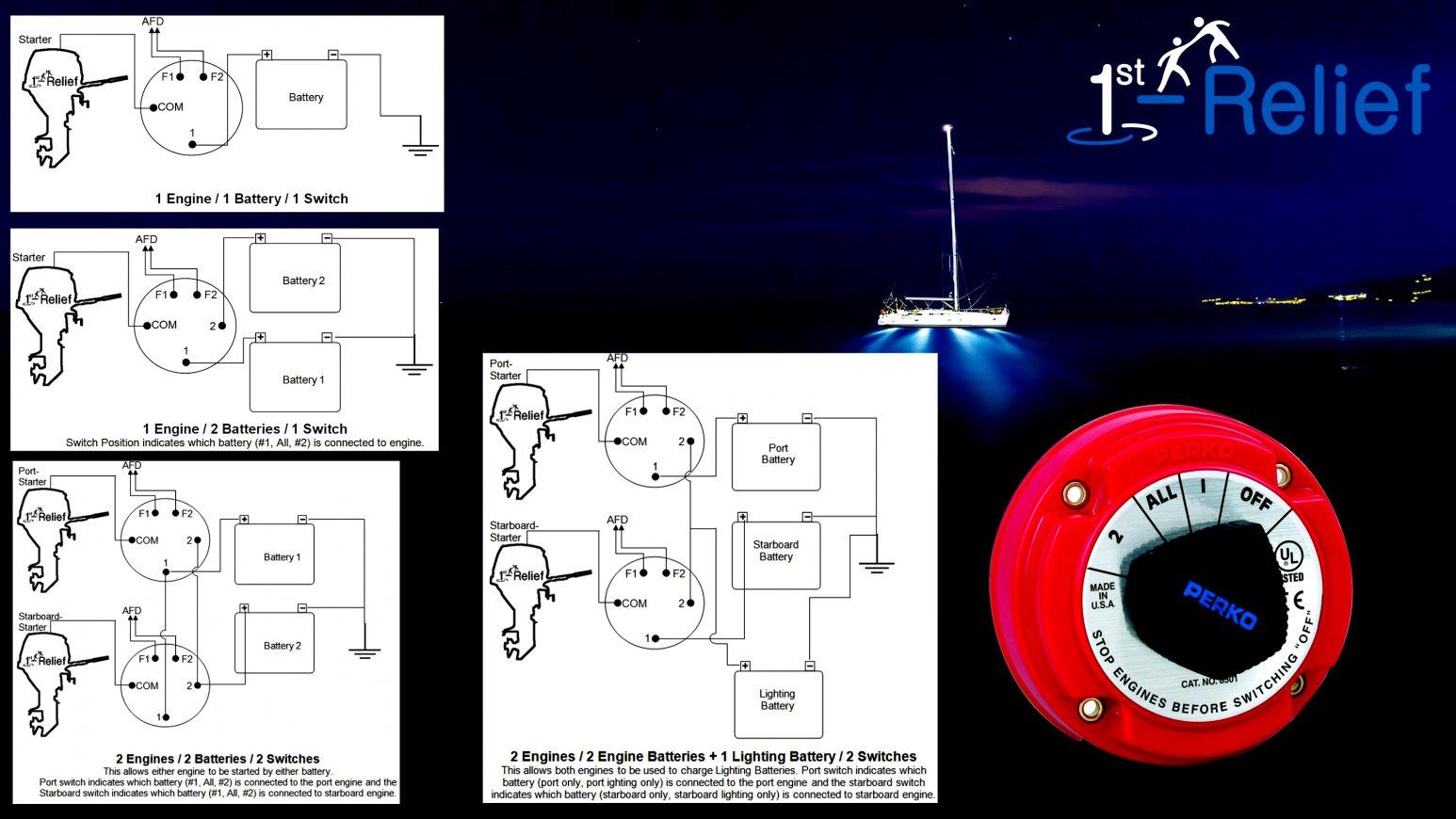 Beautiful Marine Battery Switch Wiring Diagram Two Diagrams - Dual Battery Switch Wiring Diagram