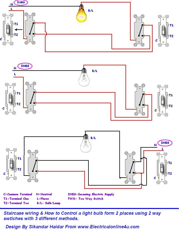 Best Two Way Lighting Circuit Wiring Diagram 36 In Starter Motor And - Light Switch Wiring Diagram