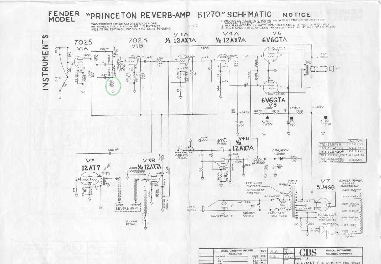 Bf/sf Deluxe Reverb | Fenderguru - 2 Ohm Wiring Diagram