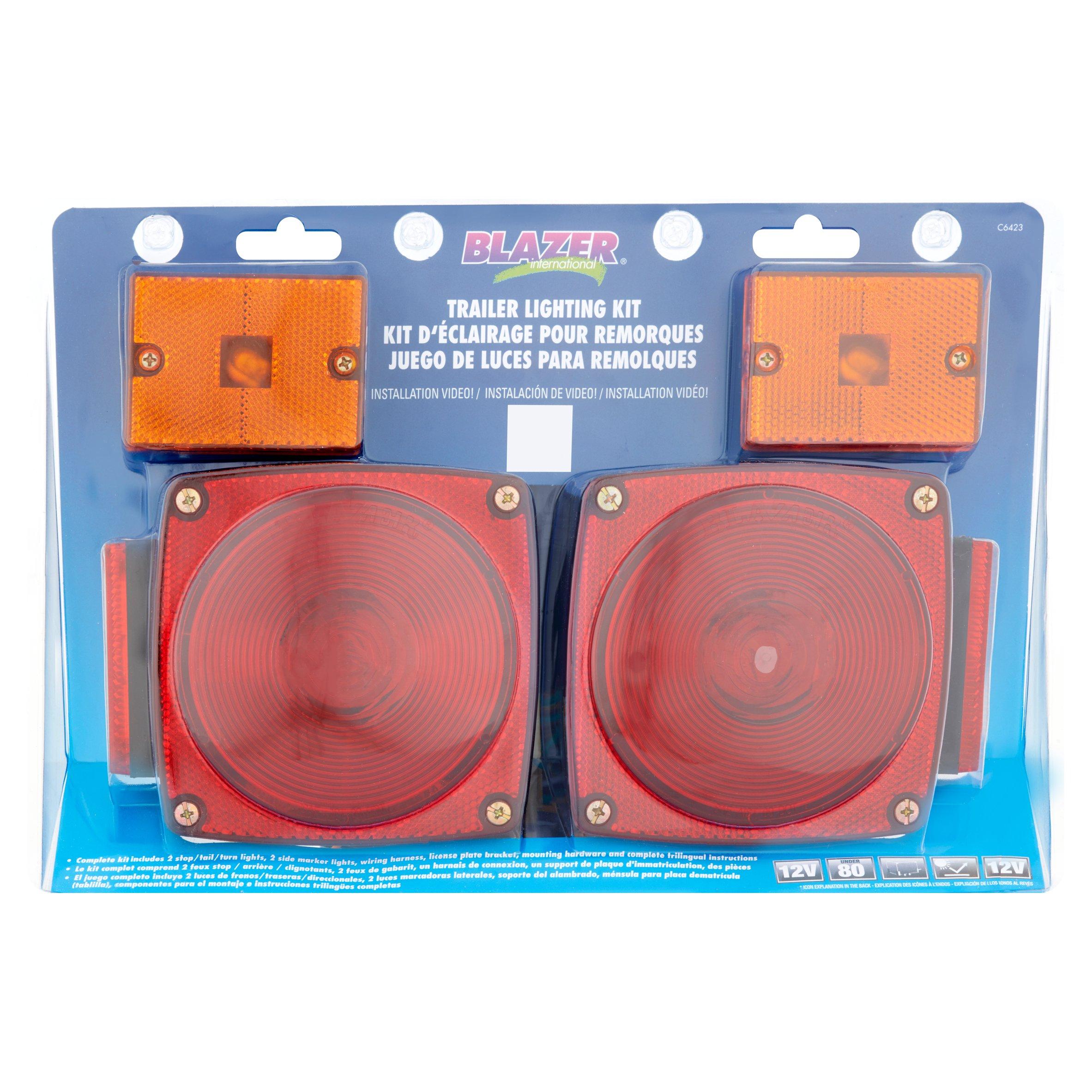 Blazer International Trailer Lighting Kit - Walmart - Blazer Trailer Lights Wiring Diagram