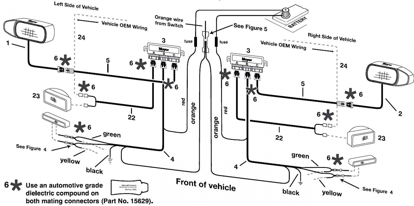 Blizzard Snow Plow Headlight Wiring Harness - Wiring Diagram Data - Western Snow Plows Wiring Diagram