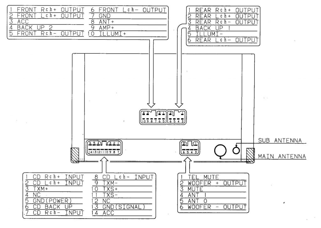 ford radio connector wiring diagram, bridge stereo amp sub with diagram, boat  stereo amplifier