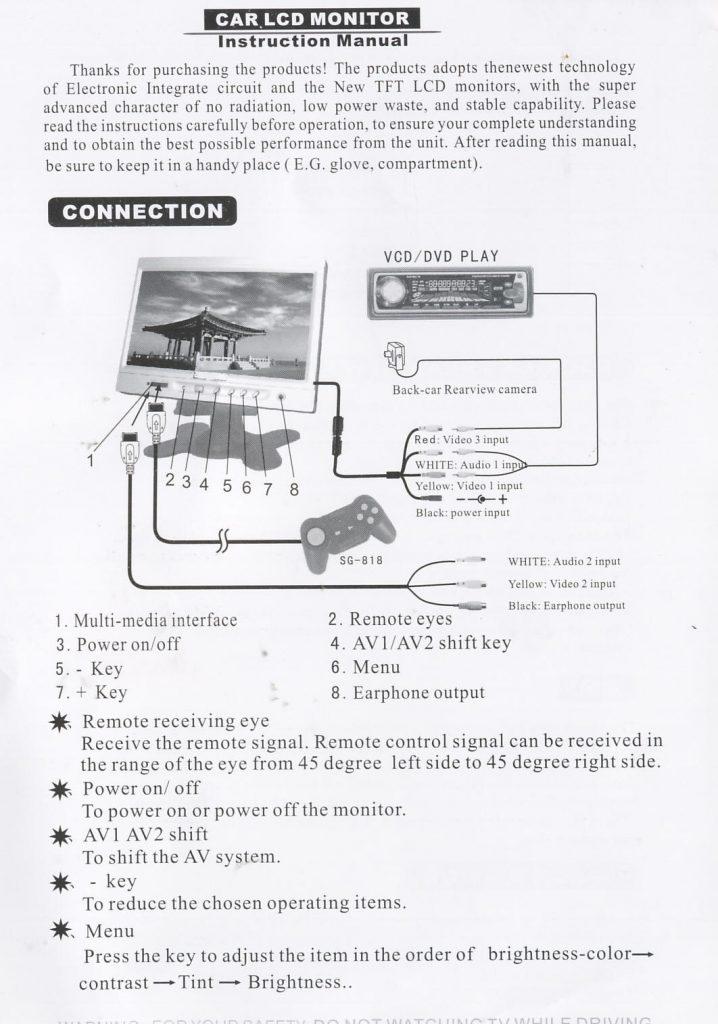 Strange Tft Lcd Monitor Reversing Camera Wiring Diagram Wirings Diagram Wiring Digital Resources Dadeaprontobusorg