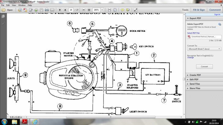 Briggs And Stratton Wiring Diagram 16 Hp