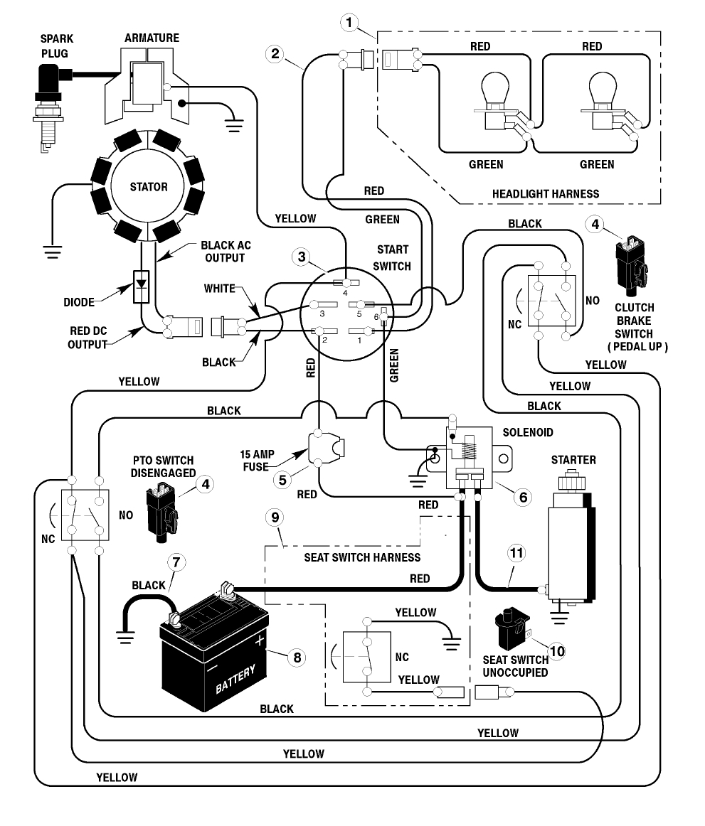 Briggs Stratton Wiring Schematics - Solution Of Your Wiring Diagram - Briggs And Stratton Wiring Diagram 16 Hp