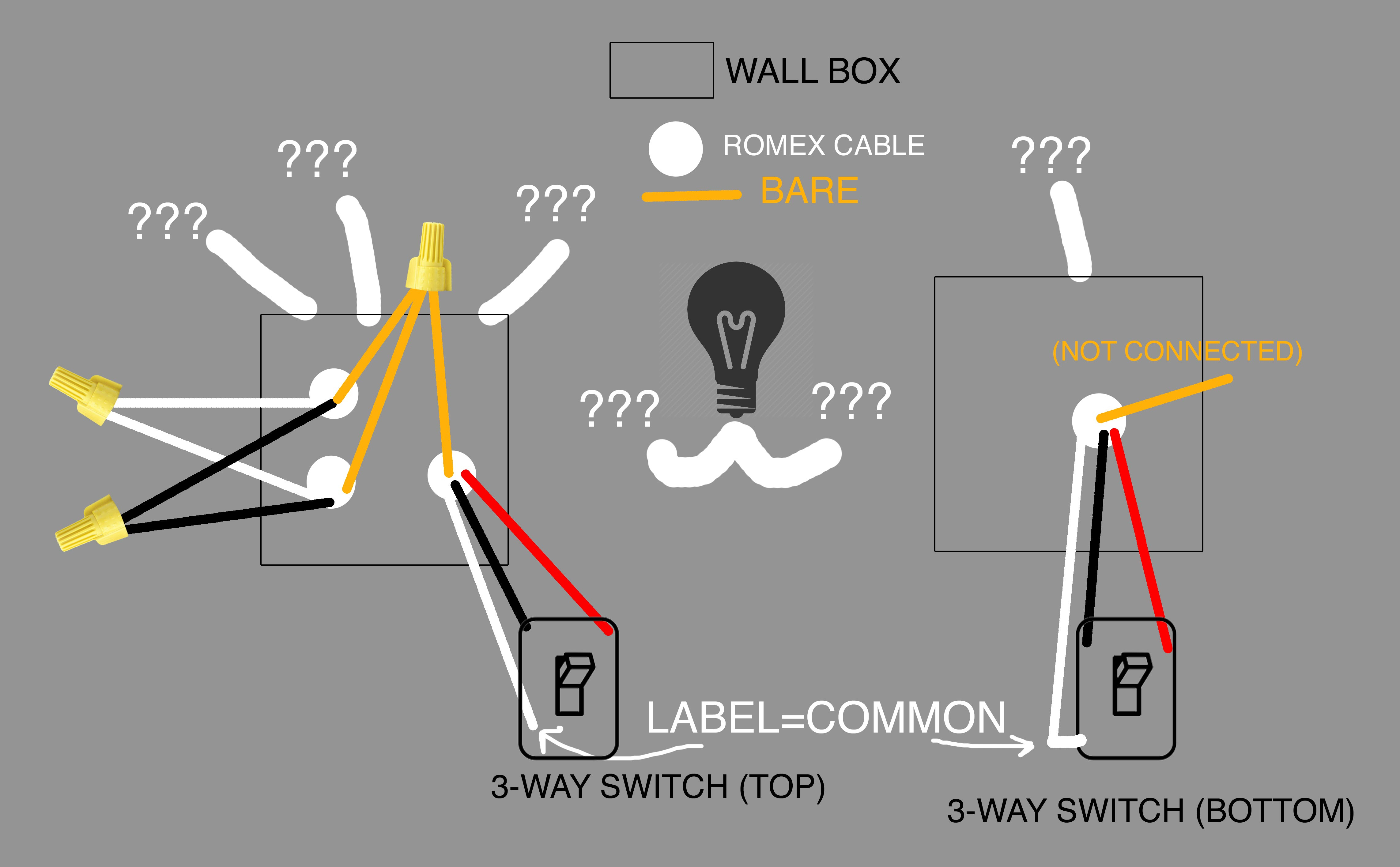Can Anyone Explain This Strange 3-Way Wiring? Trying To Install A - 3 Way Motion Sensor Switch Wiring Diagram