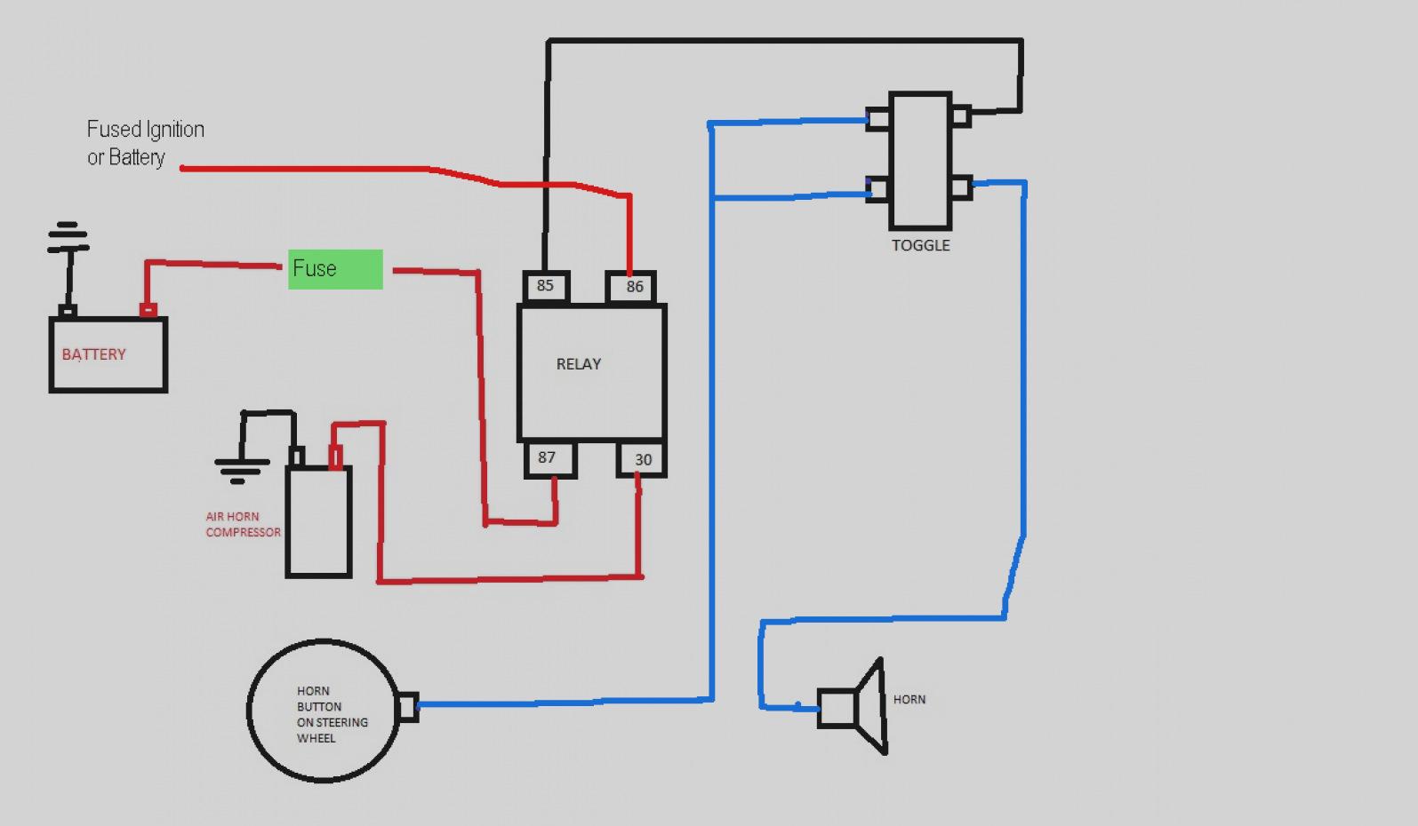 Car Air Horn Wiring Diagram Best Of Relay Inside - Hbphelp - Air Horns Wiring Diagram