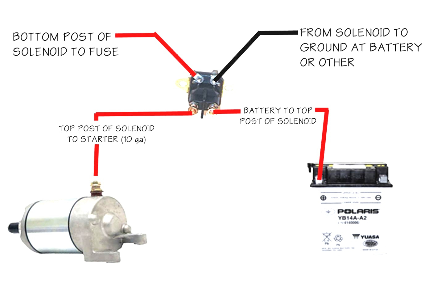 Cat Starter Relay Wiring Diagram   Manual E-Books - Solenoid Wiring Diagram