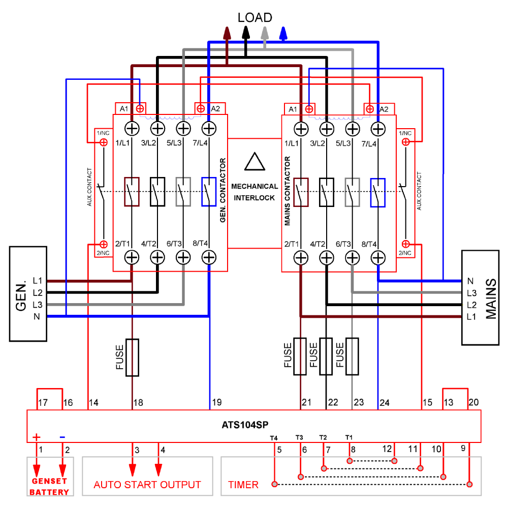 Change Over Contactor Wiring Diagram | Wiring Library - 3 Phase Wiring Diagram