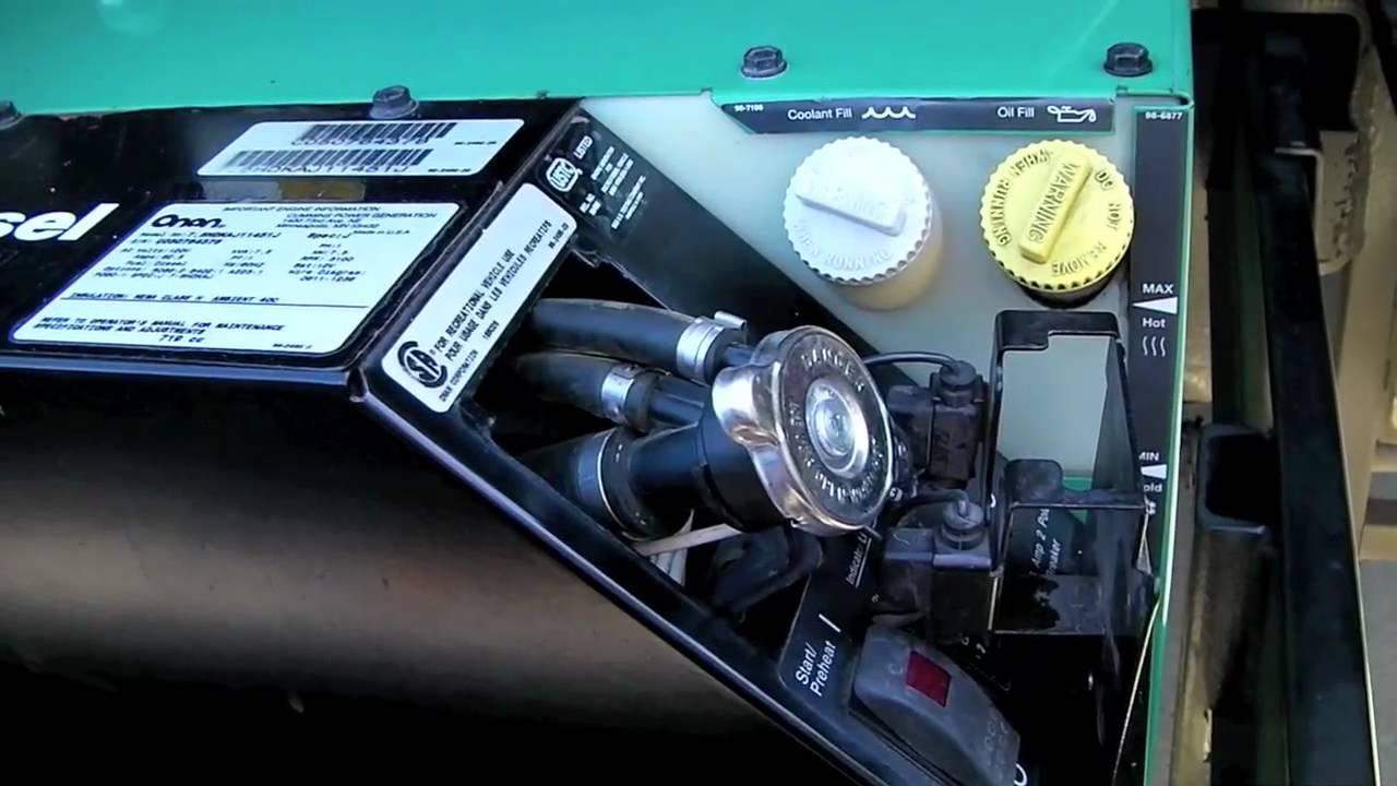 Change The Coolant In Your Onan Diesel Rv Generator - Youtube - Onan Generator Remote Start Switch Wiring Diagram