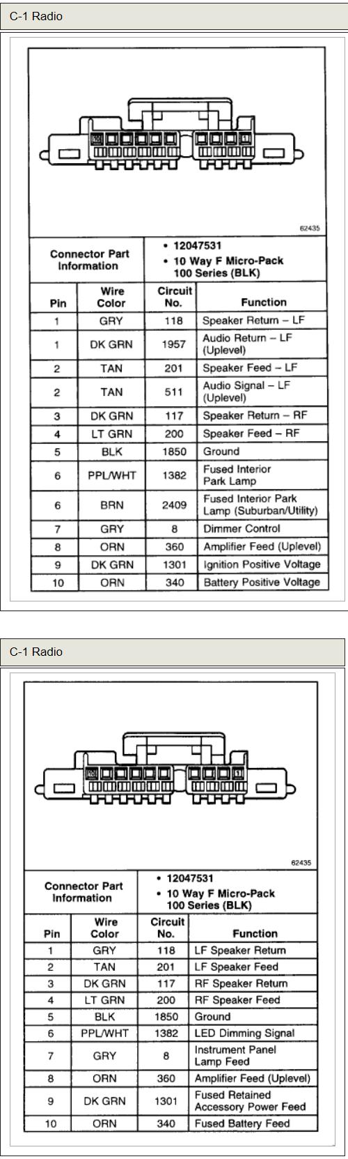 Chevy Tahoe Radio Wiring Diagram | Manual E-Books - 2002 Chevy Tahoe Radio Wiring Diagram
