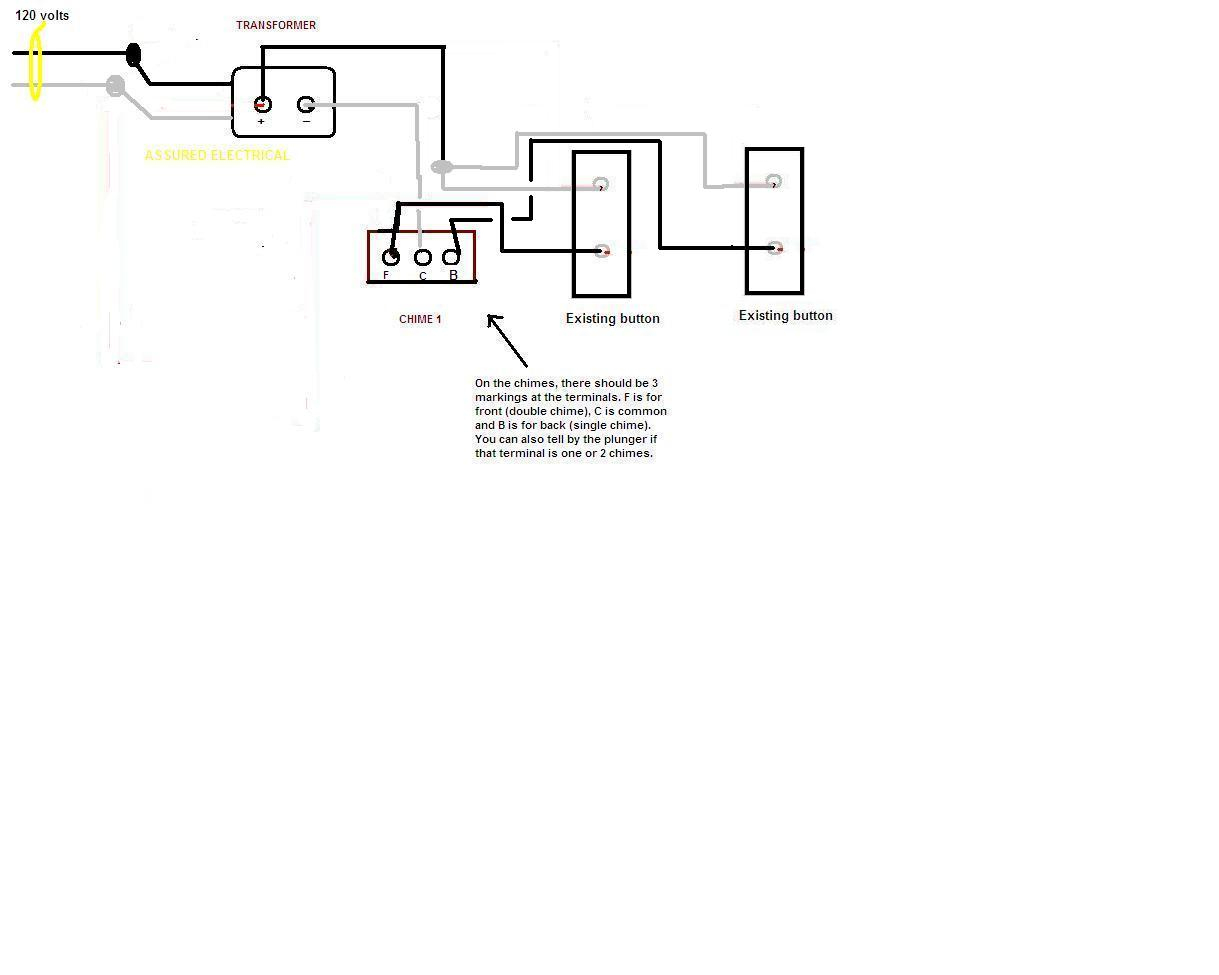 Chime Doorbell Wiring & The Main Component Parts Inside A Typical - Doorbell Wiring Diagram Tutorial