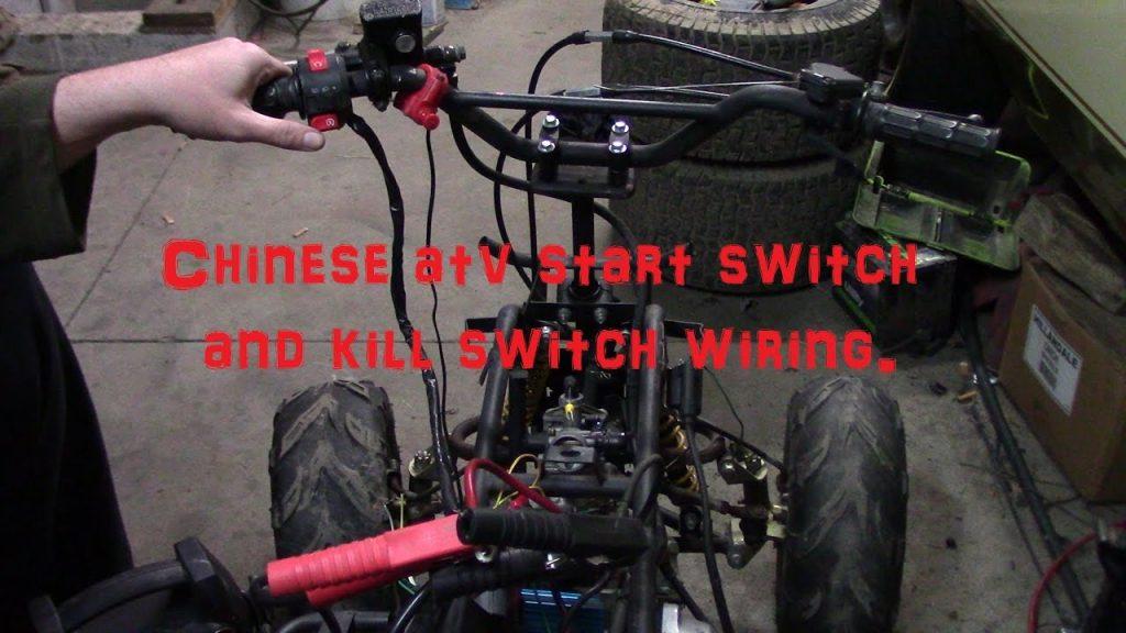 chinese atv start button and kill switch wiring youtube atv rh wirings  diagram com atv key switch wiring diagram polaris starter solenoid wiring  diagram