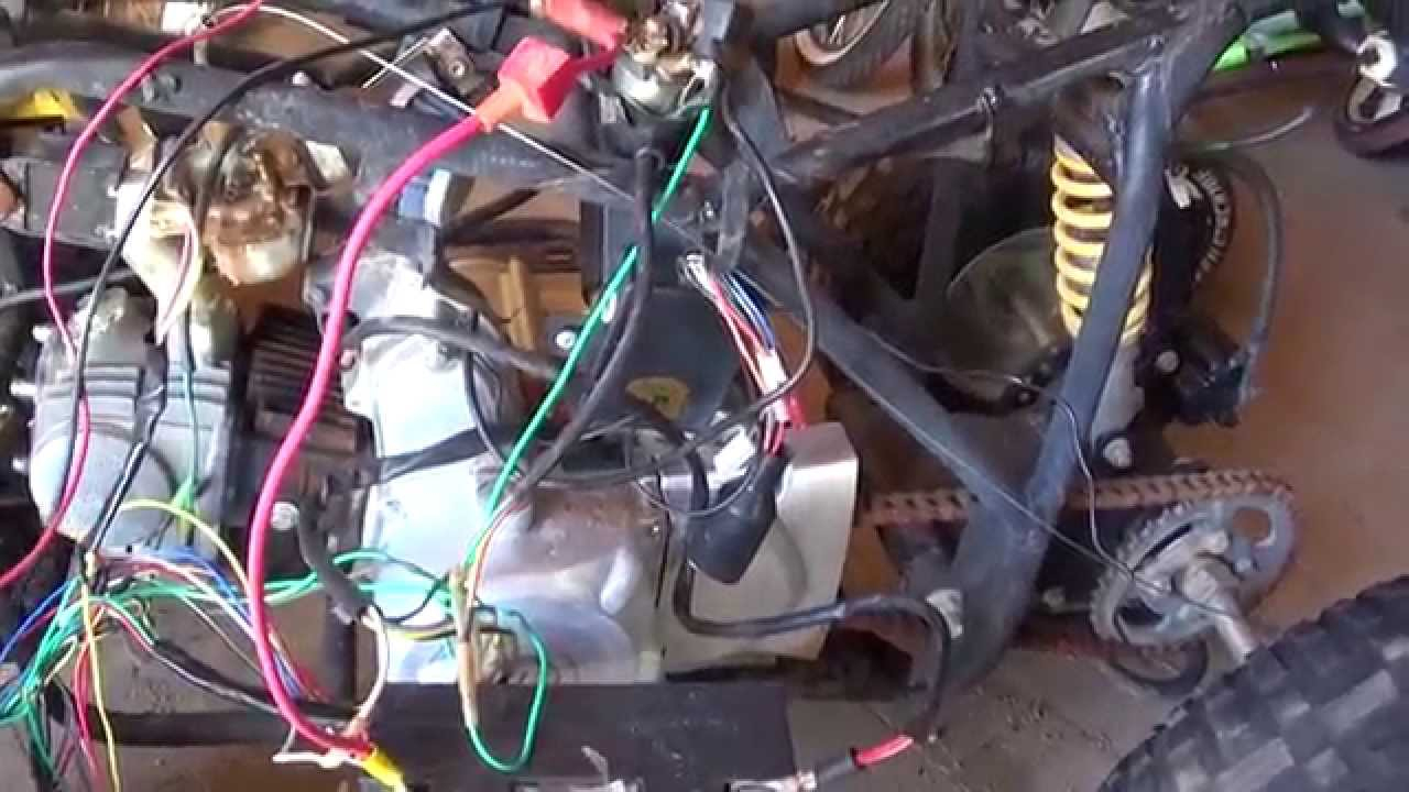 Chinese Quad 110 Cc Wiring Nightmare - Youtube - Chinese 4 Wheeler Wiring Diagram