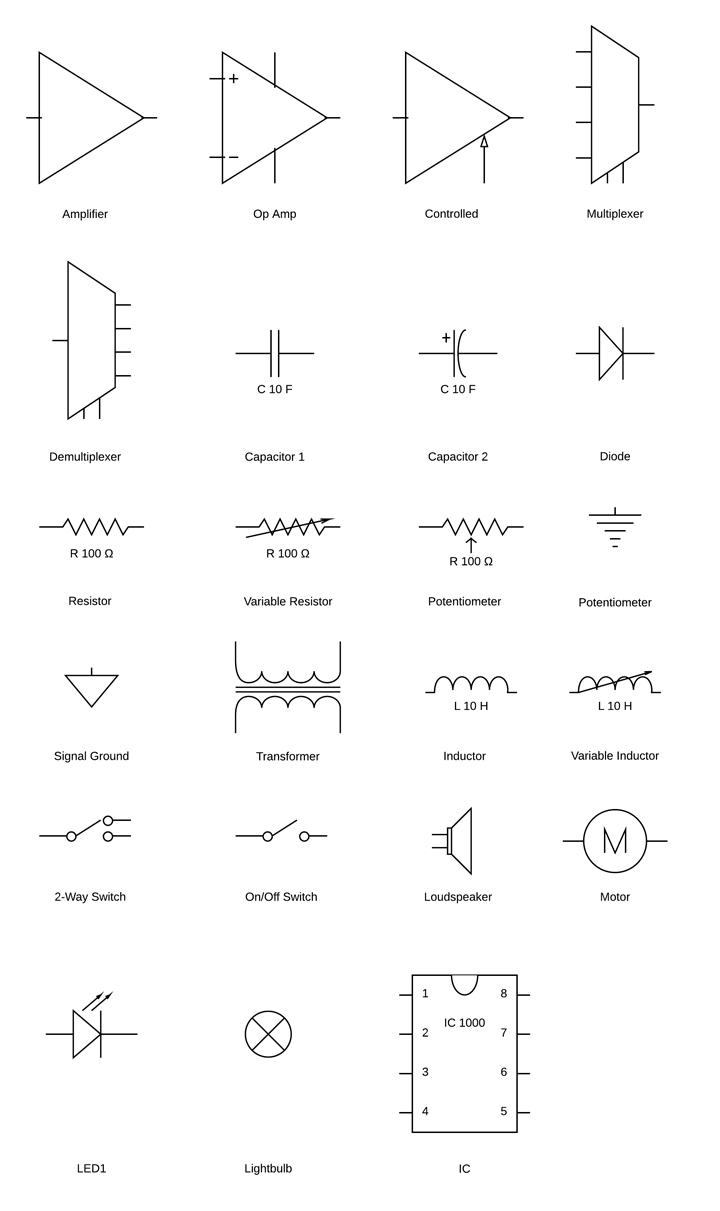Circuit Diagram Symbols   Lucidchart - Wiring Diagram Symbols