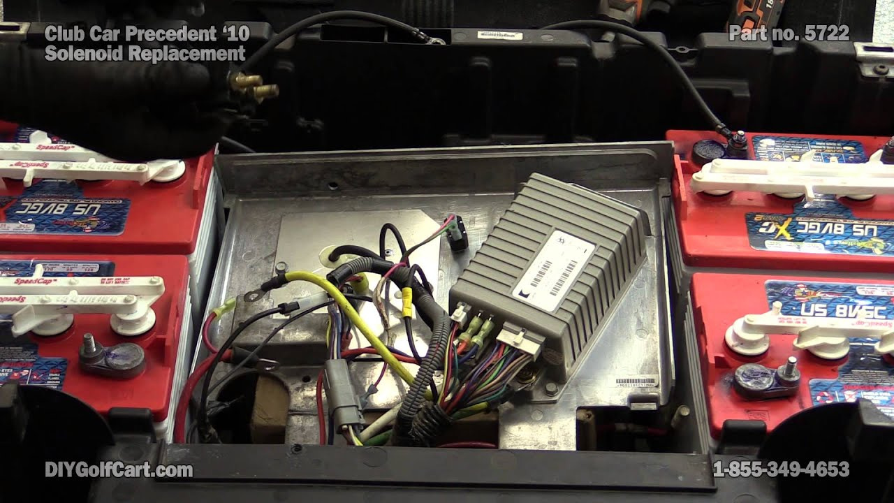 Club Car Precedent 48 Volt Solenoid | How To Replace On Golf Cart - 48 Volt Golf Cart Wiring Diagram