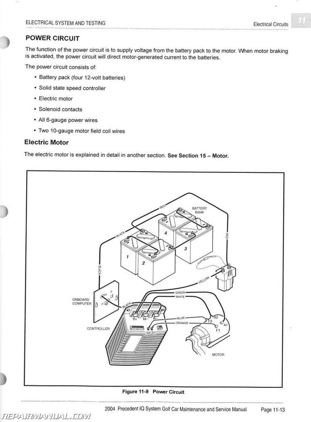 Club Car Precedent Battery Diagram | Manual E-Books - 2008 Club Car Precedent Wiring Diagram
