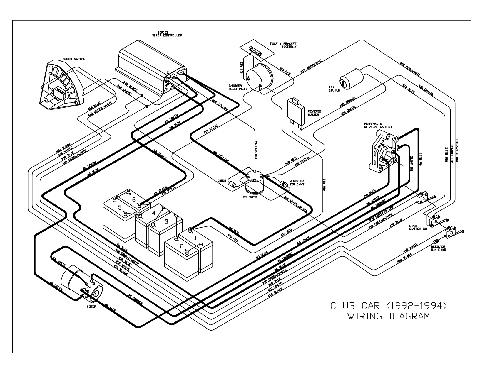 Club Car Wiring Diagram 36 Volt 5A247521D8047 And 91 At Club Car - 36 Volt Golf Cart Wiring Diagram