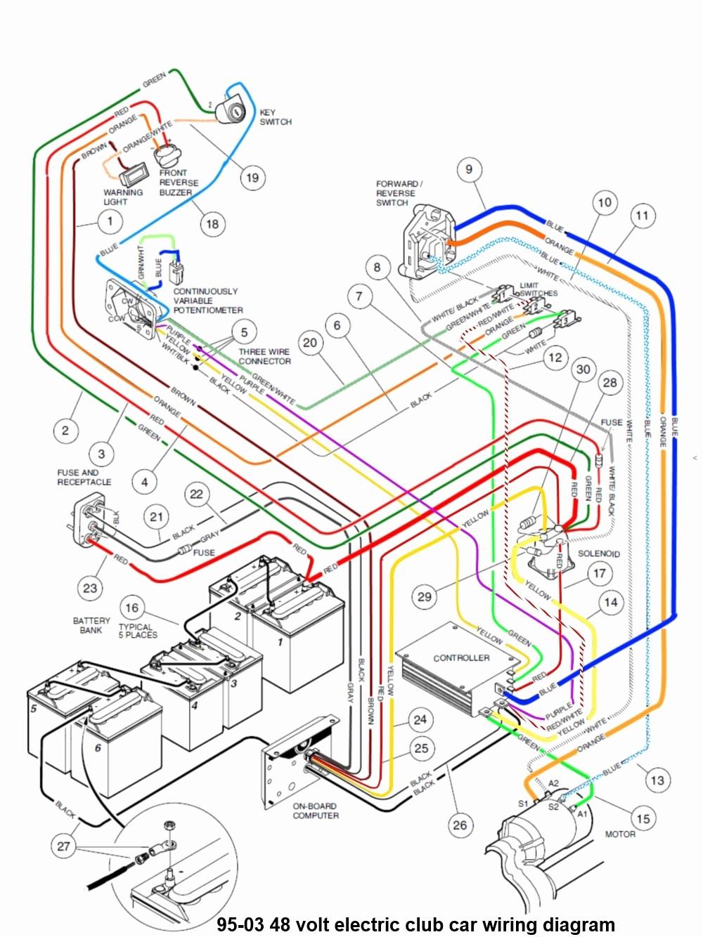Club Car Wiring - Wiring Diagram Description - 48 Volt Golf Cart Wiring Diagram