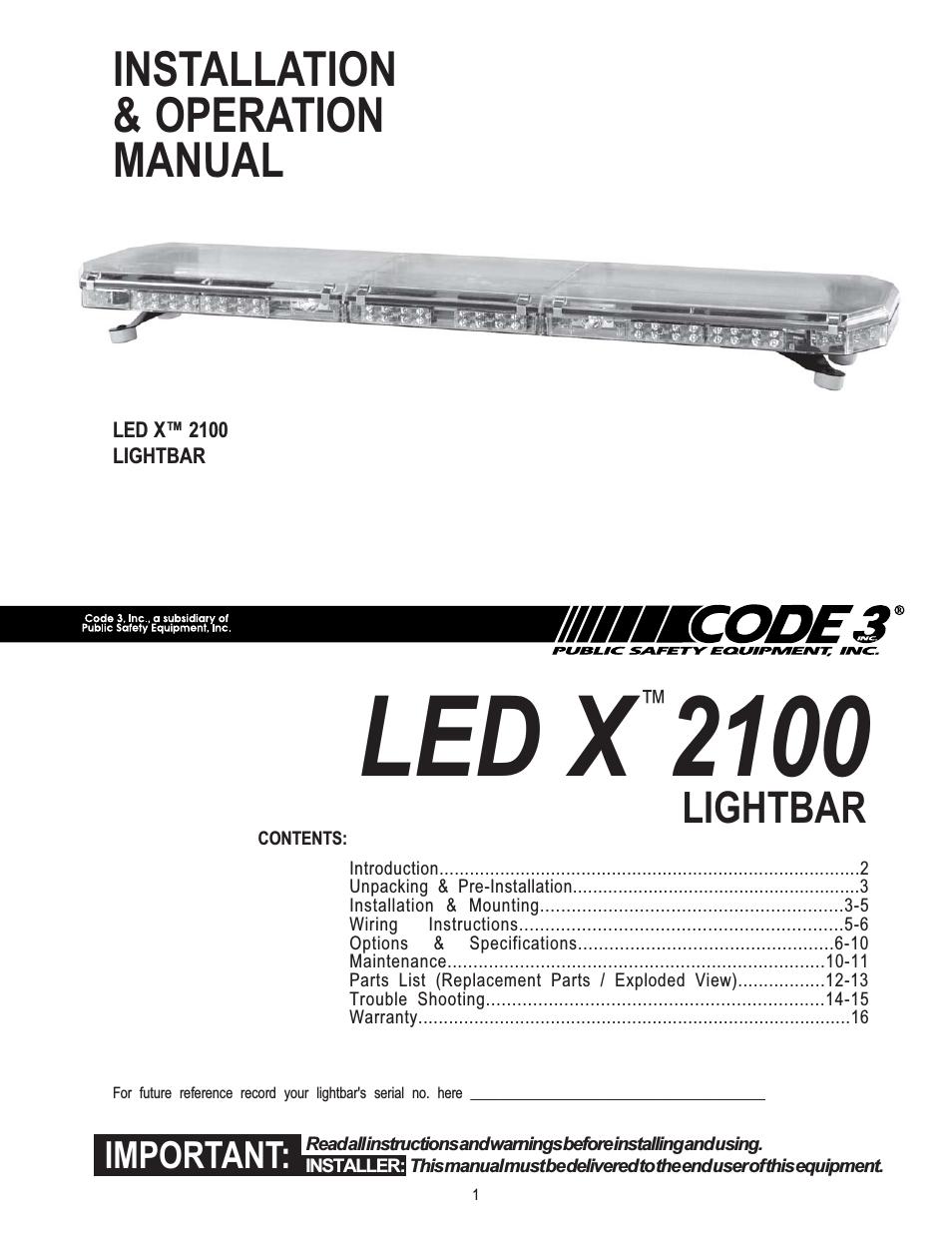 Code 3 Light Bar Wiring Diagram | Wiring Diagram - Light Bar Wiring Diagram