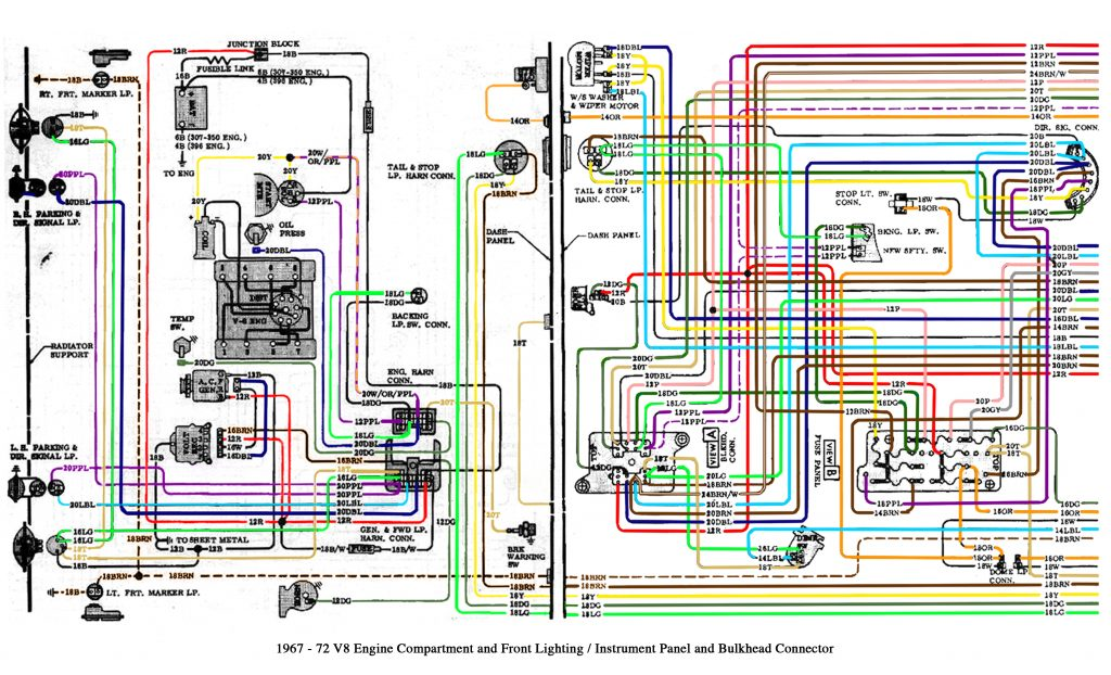 Color Wiring Diagram Finished   The 1947   Present Chevrolet & Gmc   1972 Chevy Truck Wiring Diagram
