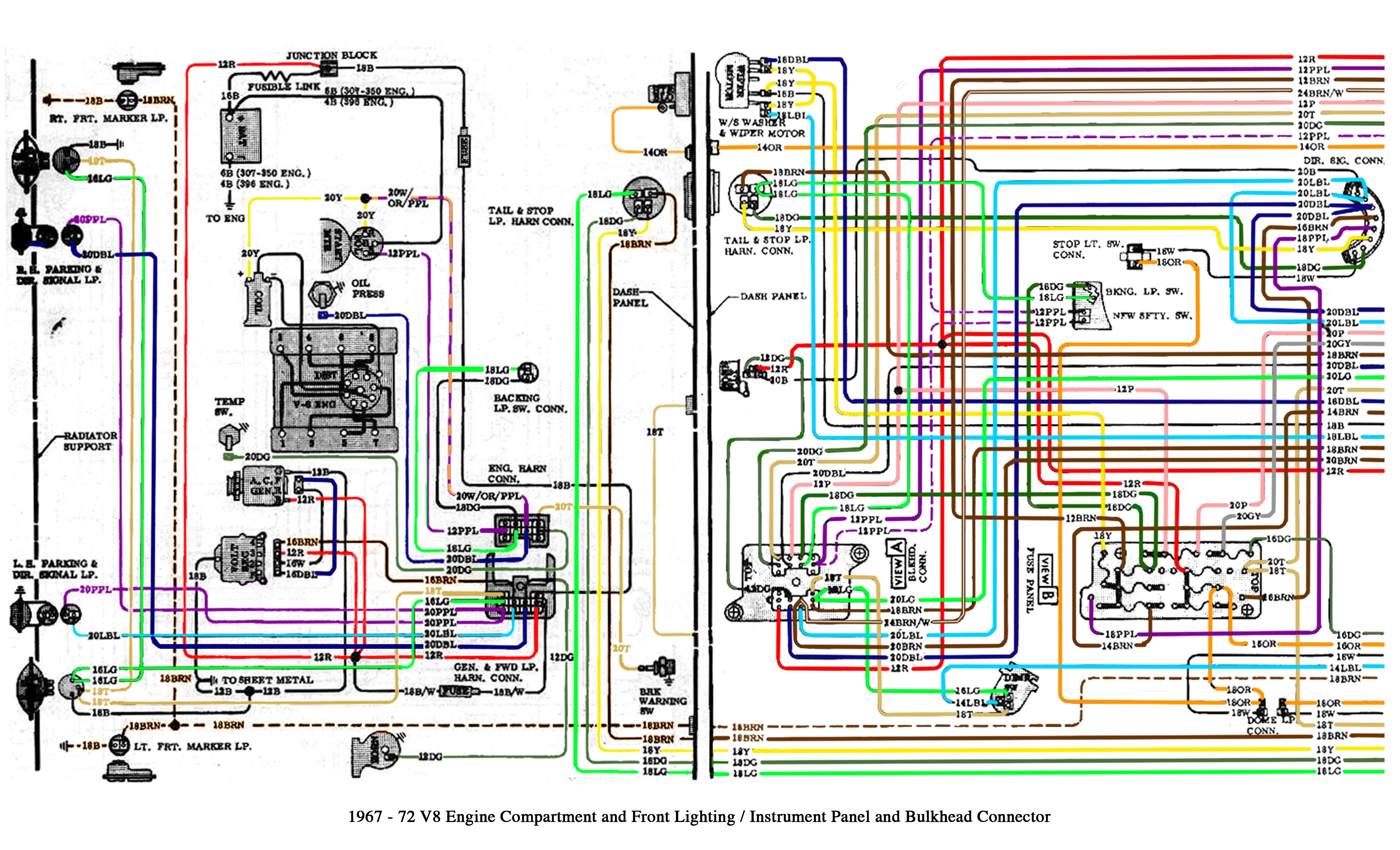Color Wiring Diagram Finished - The 1947 - Present Chevrolet & Gmc - 1972 Chevy Truck Wiring Diagram
