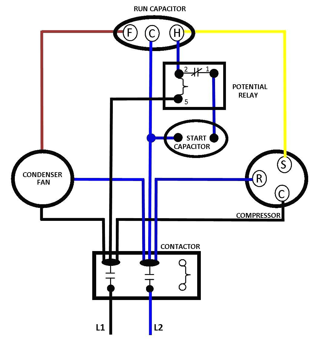 Compressor Motor Wiring Diagram - Wiring Diagrams Hubs - Compressor Wiring Diagram