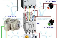Contactor Wiring Guide For 3 Phase Motor With Circuit Breaker   Three Phase Motor Wiring Diagram