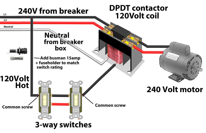 Contactors - 240 Volt Contactor Wiring Diagram