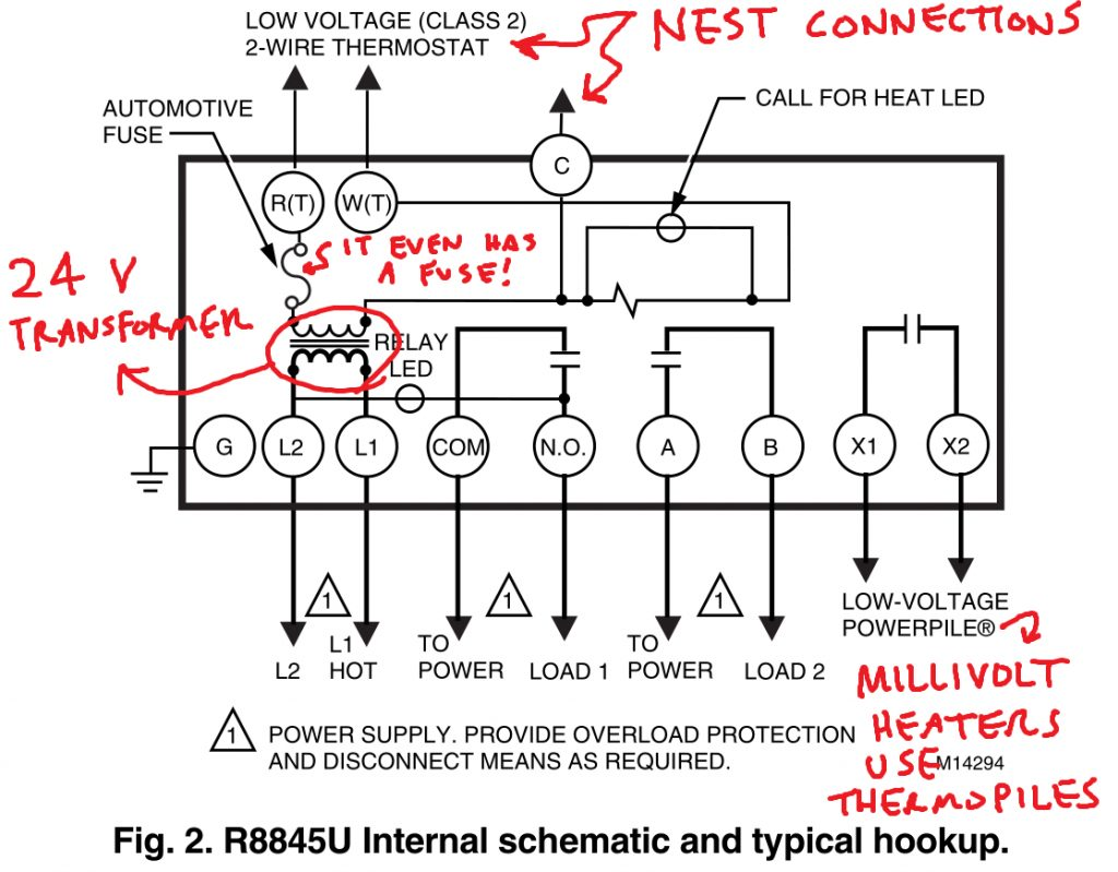 Controlling An Ancient Millivolt Heater With A Nest - 4 Wire ... on