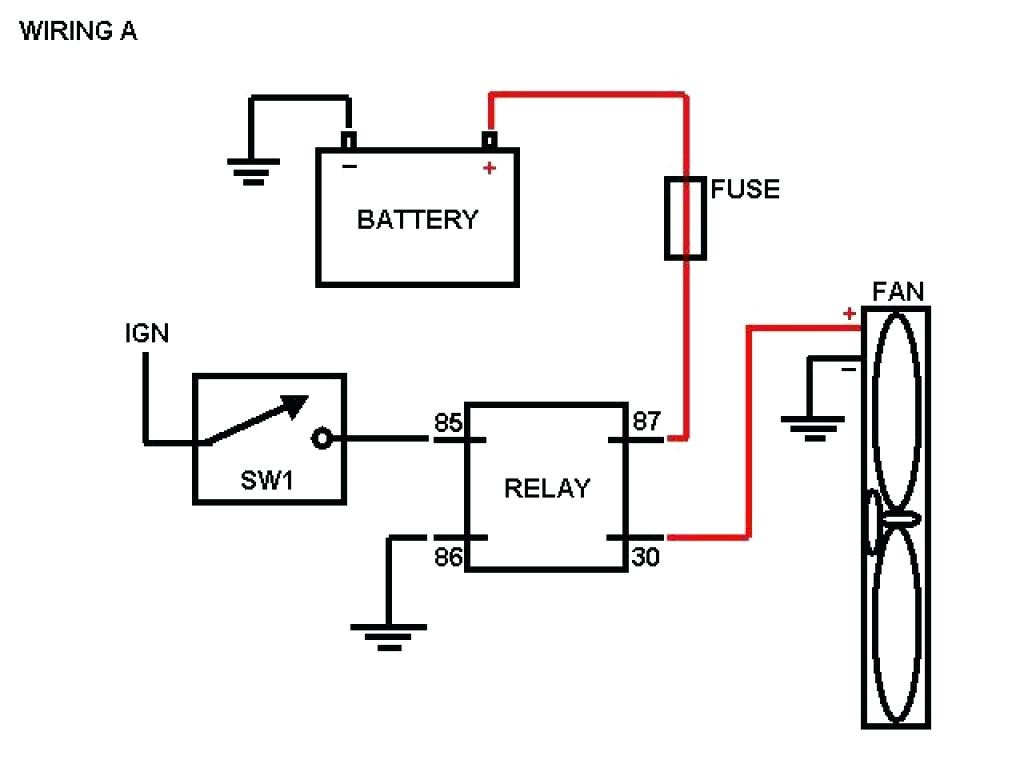 Cooling Fan Relay Wiring Diagram | Manual E-Books - Electric Fan Relay Wiring Diagram
