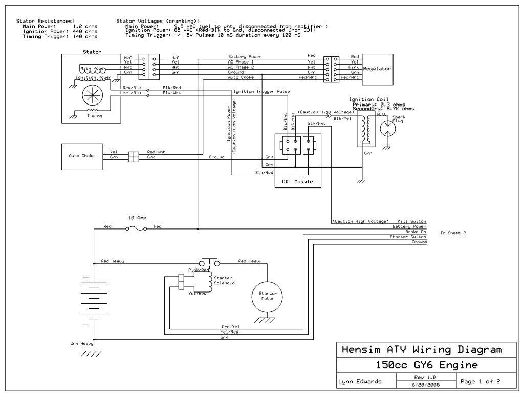 Coolster 150Cc Atv Wiring Diagram | Schematic Diagram - Gy6 150Cc Wiring Diagram