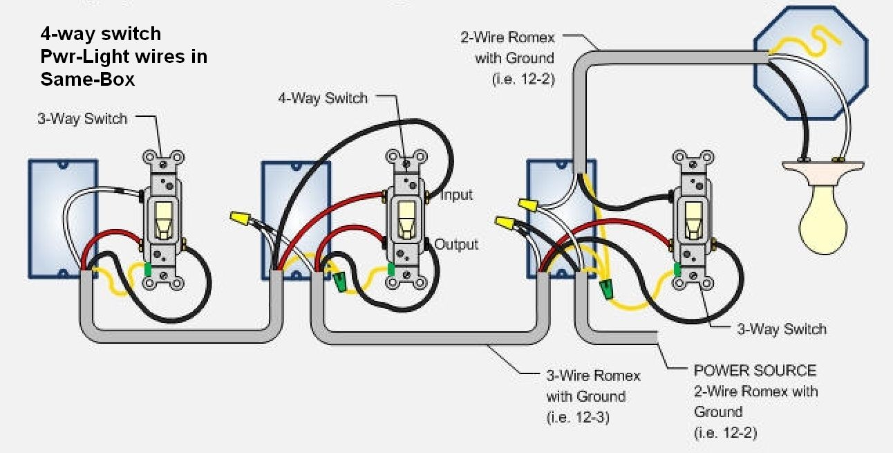 Cooper 4 Way Switch Wiring Diagram For | Switches | Pinterest - Four Way Switch Wiring Diagram