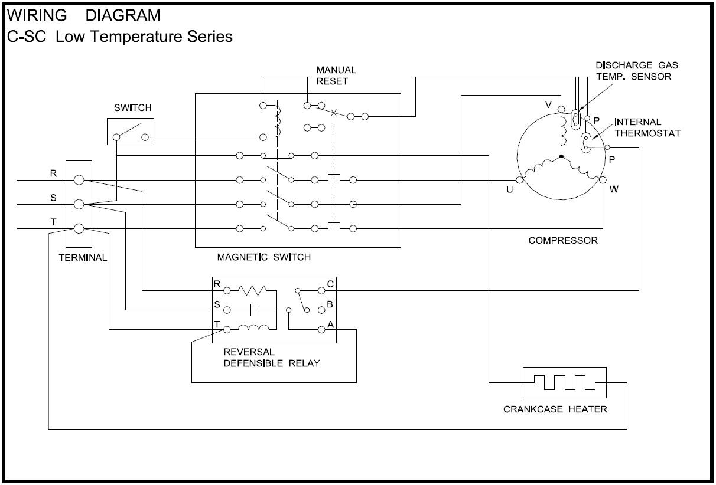 Copeland Wiring Diagrams - Wiring Data Diagram - Compressor Wiring Diagram Single Phase