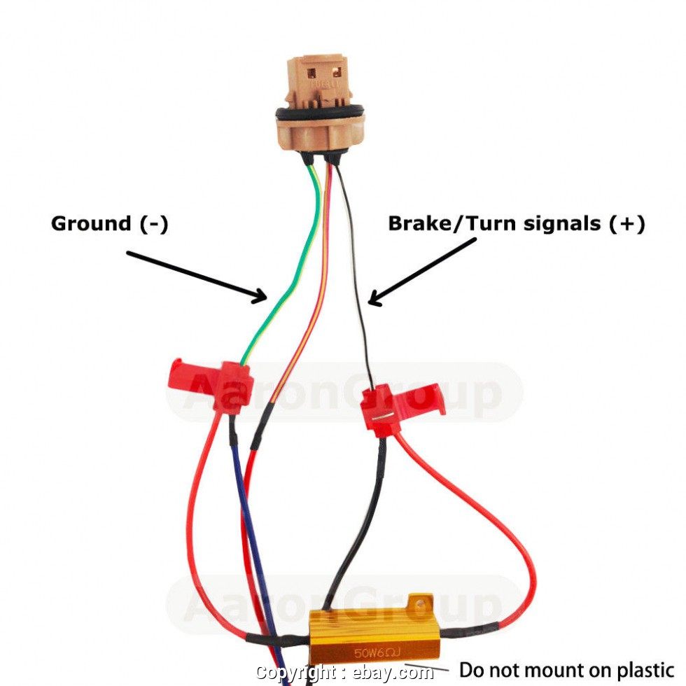 Creative Led Load Resistor Wiring Diagram Details About 4Pcs 50W 6Rj - Led Load Resistor Wiring Diagram