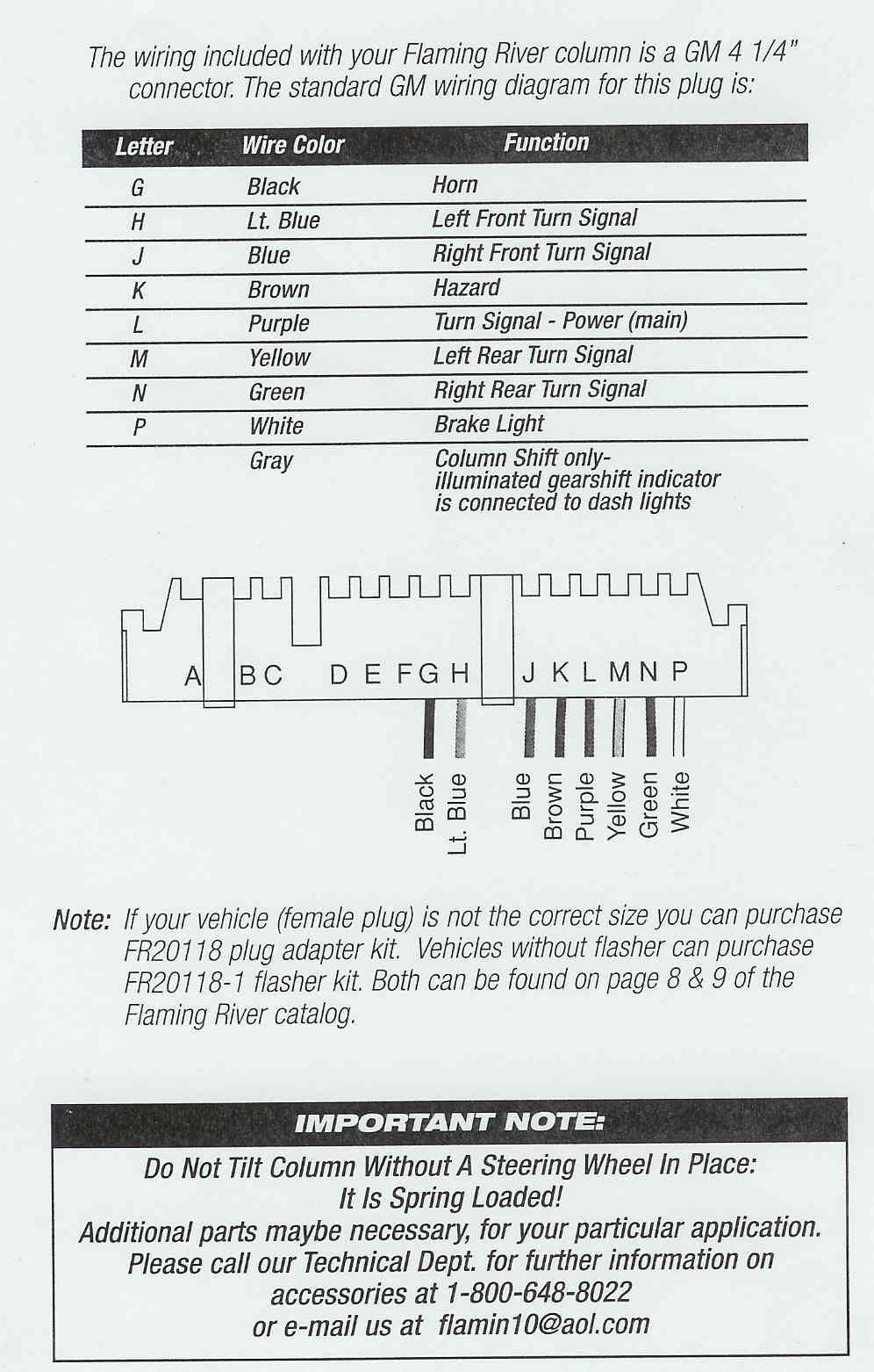 Custom Wiring Diagram - Ididit Steering Column Wiring Diagram