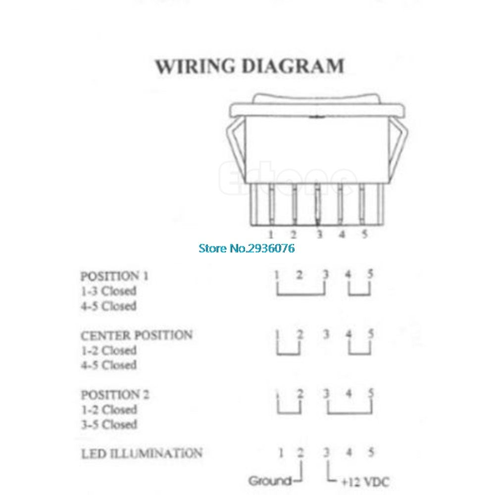 Dc 12V 20A Universal Auto Car Power Window Switch 5 Pin On/off Spst - 5 Pin Rocker Switch Wiring Diagram