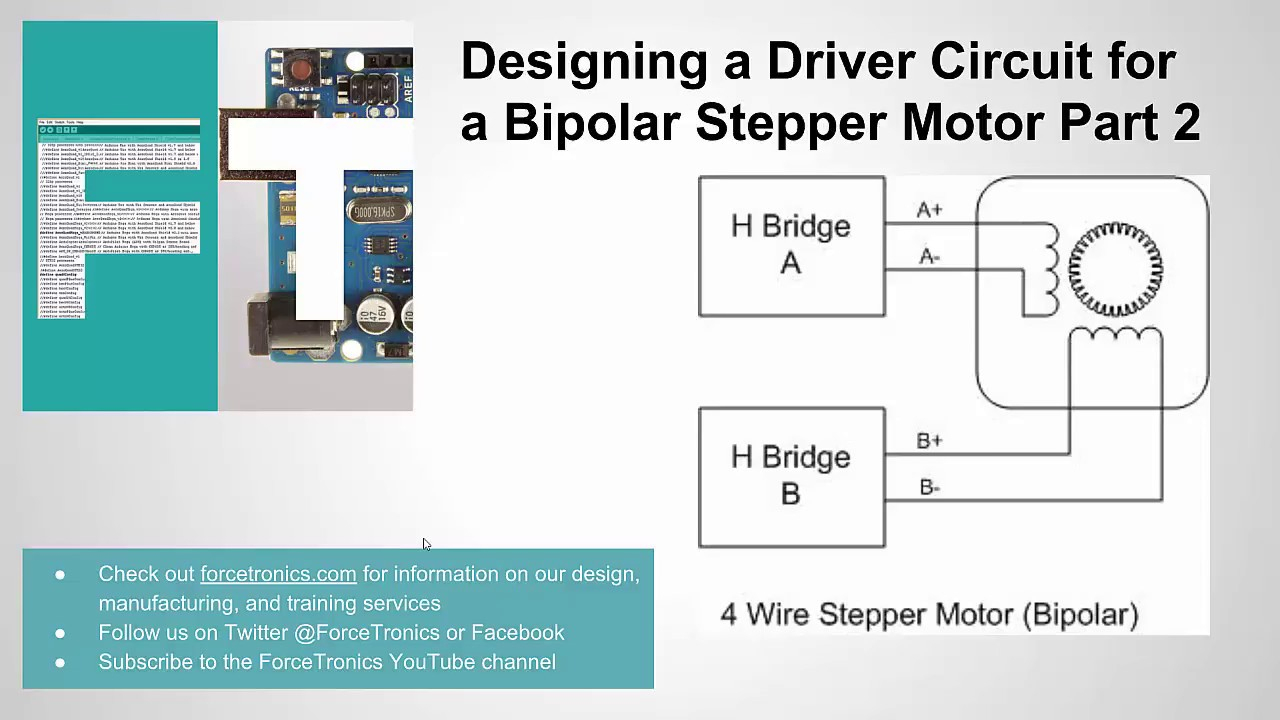 Designing A Driver Circuit For A Bipolar Stepper Motor Part 2 - Youtube - Stepper Motor Wiring Diagram