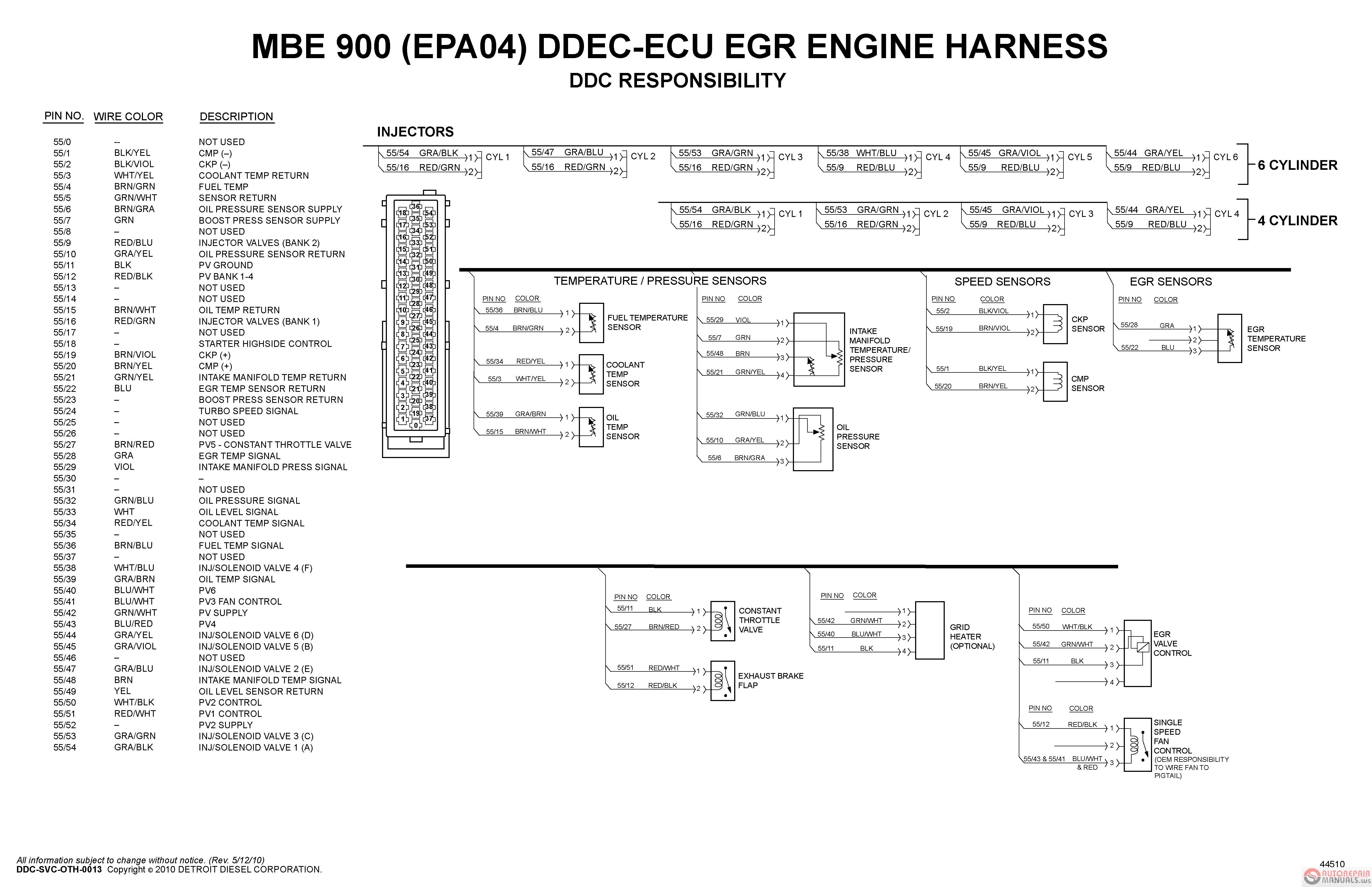 Detroit Diesel Ecm Wiring Diagram | Manual E-Books - Detroit Series 60 Ecm Wiring Diagram