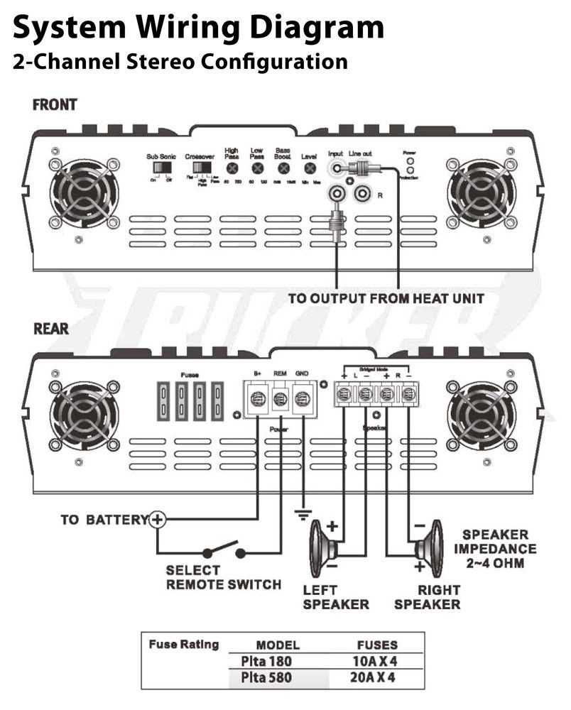 Diagrams Channel Amplifier Wiring Diagram Inside Amp Pleasing And - 4 Channel Amp Wiring Diagram